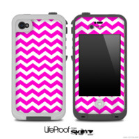 Hot Pink Chevron Pattern for the iPhone 5 or 4/4s LifeProof Case
