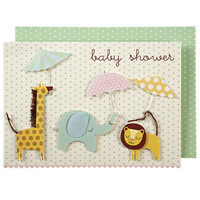 Animals with Umbrellas Baby Shower