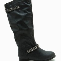 Tosca 100 Pyramid Stud Straps Riding Boot