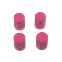 Tire Rim Wheel Aluminum Valve Stem Caps - Pink Color