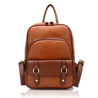 Vintage Street Leather Backpack(brown)
