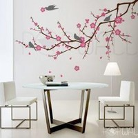 Vinyl Wall Sticker Decal Art  Cherry Blossom Tree by NouWall