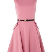 Sodamix Structured monroe dress Pink