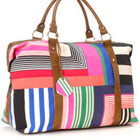 Miami Stripe Weekender at Accessorize