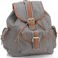 Stripy Rucksack at Accessorize