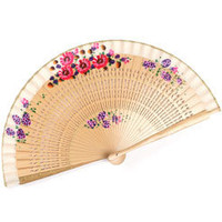 Pretty Painted Wooden Fan at Accessorize