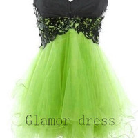 fantastic lace tulle ball gown prom dresses    sweetheart mini cocktail prom dress    graduation dress    homecoming gowns    party dresses