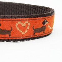 Longback Love - Dog Collar | StinkyandSweetPea - Pets on ArtFire