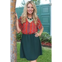 Gone Native Dress in Olive