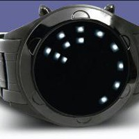 Oberon LED watch Black Ion Plated Stainless Steel
