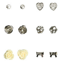 Six On Fireball Earring Set - Teen Clothing by Wet Seal