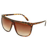 Chain Printed Sunglasses - Teen Clothing by Wet Seal
