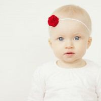 Mini Felt Rosette Hair Clip OR Headband ~ FELT | Luulla