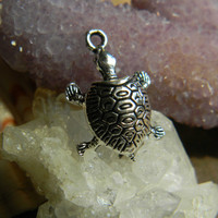 Tibetan Silver Sea Turtle Charm Pendant 6 Pieces