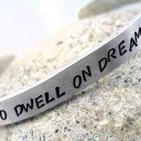 Harry Potter Bracelet Dumbledore Quote It Does Not Do to Dwell... | foxwise - Jewelry on ArtFire