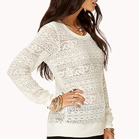 Long Sleeve Lace Top | FOREVER 21 - 2030188033