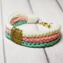 Three colors Crocheted Rope Bracelet by qualified yarn
