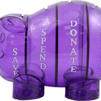Money Savvy Piggy Bank Purple