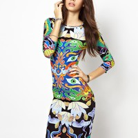 Textile Federation | Textile Federation Midi Dress In Oriental Print at ASOS