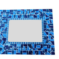 Blue Mosaic Accent Mirror, Wall Decor