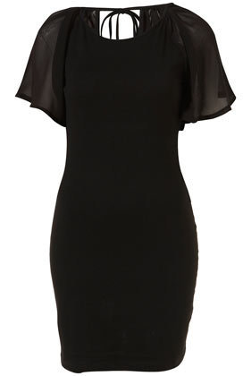 Cape Sleeve Dress by Rare**