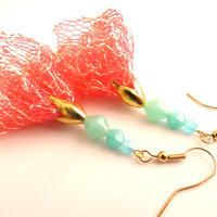 Fabric Lace Dangle Earrings by SirensAllure on Etsy