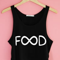 Colorful Infinity Food Crop Tank Top | Yotta Kilo