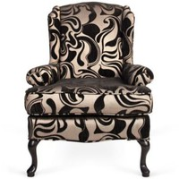 One Kings Lane - Woodson &amp; Rummerfield - Swirl Wingback Chair
