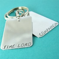 Time Lord & Companion Key Chain Set - Spiffing Jewelry