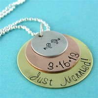 Just Married Love Birds Necklace - Spiffing Jewelry
