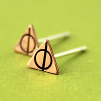 Deathly Hallows Stud Earrings - Spiffing Jewelry