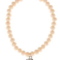 CREAM Charm Stretch Bead Bracelet