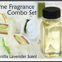 Vanilla Lavender Scent Home Fragrance Combo Set by crimsonhill