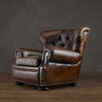 Churchill Reading Recliner | Leather | Restoration Hardware