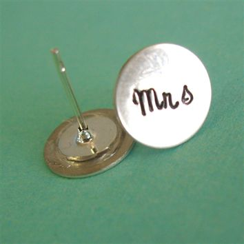 Mrs Stud Earrings - Spiffing Jewelry