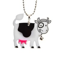 Happy Cow Necklace,Plexiglass Kawaii Necklace,Lasercut Acrylic,Gifts Under 25 | Luulla