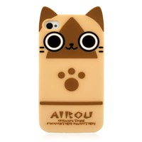 Big Eye Kitty Cat Soft Silicon Back Case for iPhone 4/4S