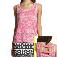 Charlotte Russe - Burnout Hi-Low Tank