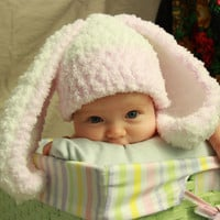 Honey Bunny Hat Pink and Blue by ChildhoodLand on Etsy