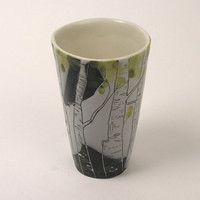 Birch Tree Latte Cup by JosiesPotShop on Etsy