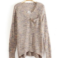 BACKLESS V COLLAR  BACK HOLLOW Fashion SWEATER