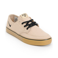 Nike SB Braata LR Tan & Gum Canvas Skate Shoe at Zumiez : PDP