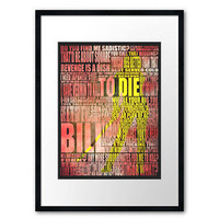 Kill Bill art print 420mm x 297mm by purplecactusdesign on Etsy