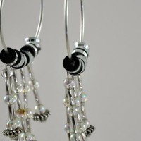 Bkack And White Fly Earrings | KeakiDesigns - Jewelry on ArtFire