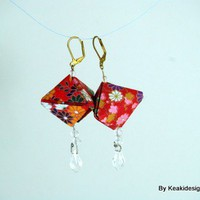 Large Paper Lanterns Origami Earrings | KeakiDesigns - Jewelry on ArtFire