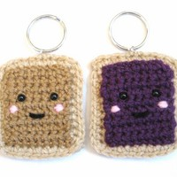 Peanut Butter and Jelly Best Friends BFF Friendship Key Chains