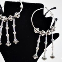 Black And White Soft Touch Drops Earrings | KeakiDesigns - Jewelry on ArtFire