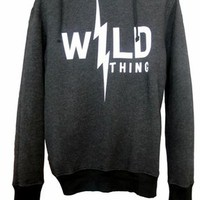 Wildfox Couture Wild Thing Over-sized Hoodie in Clean Black
