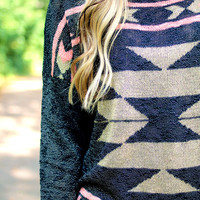 End of Summer Aztec Sweater