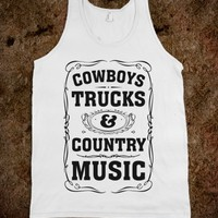 COWBOYS TRUCKS & COUNTRY MUSIC